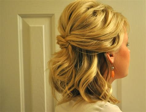 curls half up half down hairstyles medium length hair hairstyles for curly hair half up half down prom