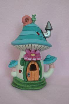 handmade fairy house caterpillar house faerie home