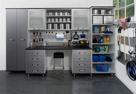 garage bench and storage garage workbench ideas garage and shed eclectic with built