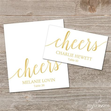 gold place card template gold place cards printable template editable gold