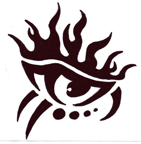 flame tribal tattoo best photos of tribal flame drawings