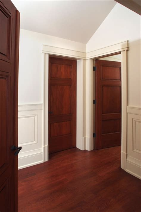 Craftsman Interior Doors Custom 3 Panel Mahogany Interior Doors Craftsman Interior Doors Other Metro By Baird