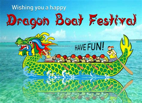 dragon boat festival 2018 greetings a dragon boat festival card for you free dragon boat