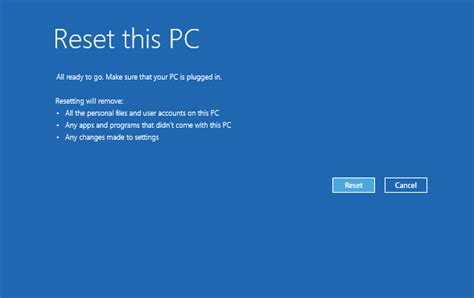 resetting windows ce password reset windows 10 to factory settings password recovery