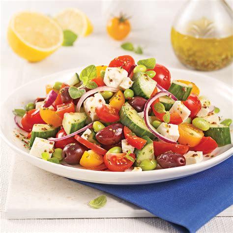 recettes cuisine grecque salade grecque feta et edamames recettes cuisine et