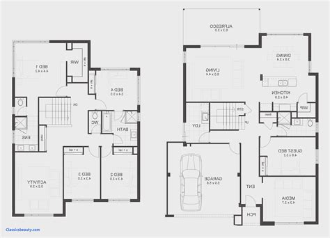 Simple 5 Bedroom House Plans by Lovely 5 Bedroom Floor Plans Images Home