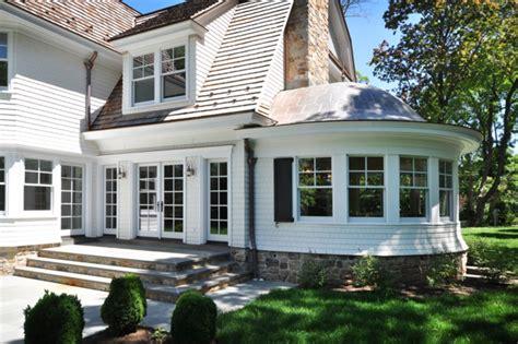 shingle style home traditional exterior  york