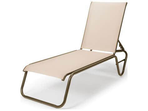 telescope chaise lounge telescope casual gardenella sling aluminum lay flat chaise