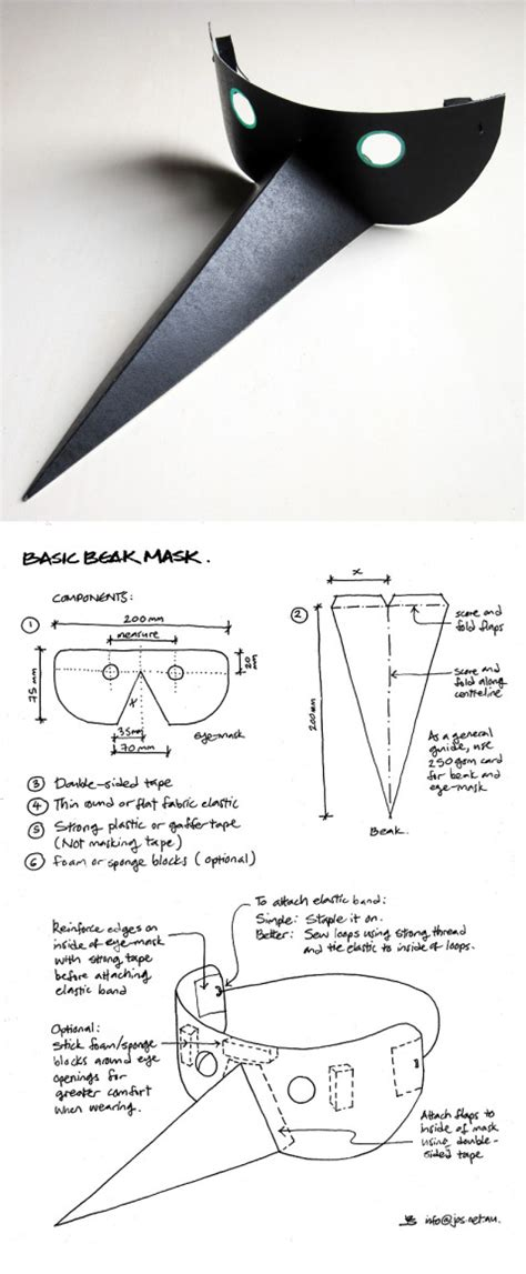 How To Make A Paper Bird Beak Mask - 5 mask diys safetypinner