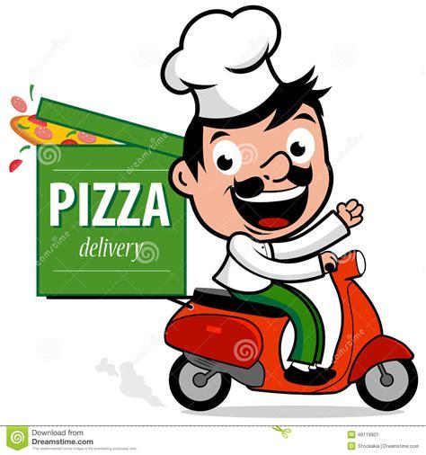 Emblem Vespa 60s chef italien de la livraison de pizza dans le scooter
