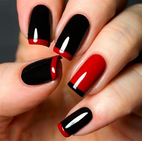 Imagenes De Uñas Pintadas De Rojo Y Negro | dise 241 os de u 241 as con esmalte color rojo