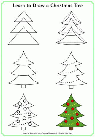 christmas pictures step by step learn to draw pictures