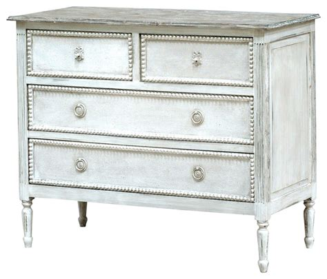 Country Dressers by Caroline Country Antique White Solid Wood 4 Drawer