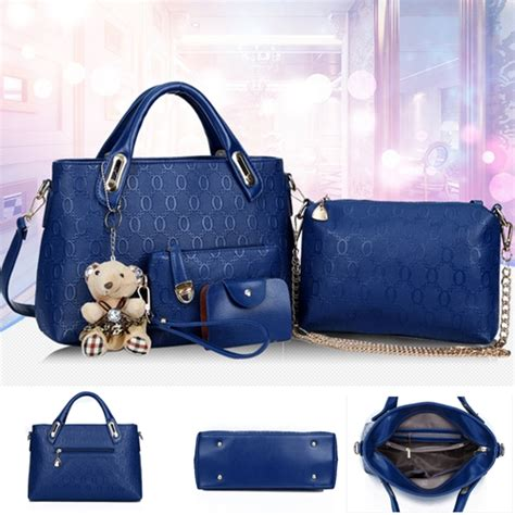 Tas Import Set 4in1 jual b066 blue tas import set 4in1 grosirimpor