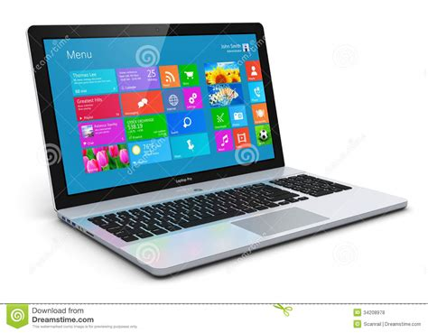 Strong Coler For Laptop And Notbook modern laptop stock illustration image of cloud display