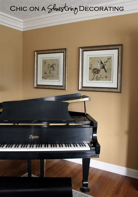 piano in living room chic on a shoestring decorating grand piano living room