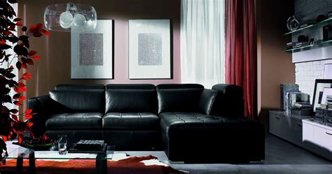 Decorate Living Room With Black Leather Sofa Curtain Living Room Decor Black Leather Sofa