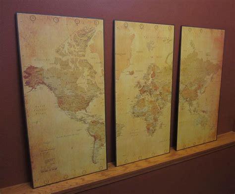 diy world map wall decor diy vintage world map wall diy things to make
