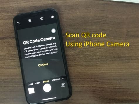 how to scan qr code from the center on iphone xs