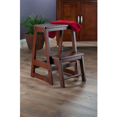Winsome Wood Step Stool by Winsome Wood Step Stool Antique Walnut