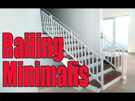 railing tangga minimalis youtube