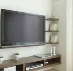 How To Hide Wires From Wall Mounted Tv Flat Screen Tv Shelf Foter