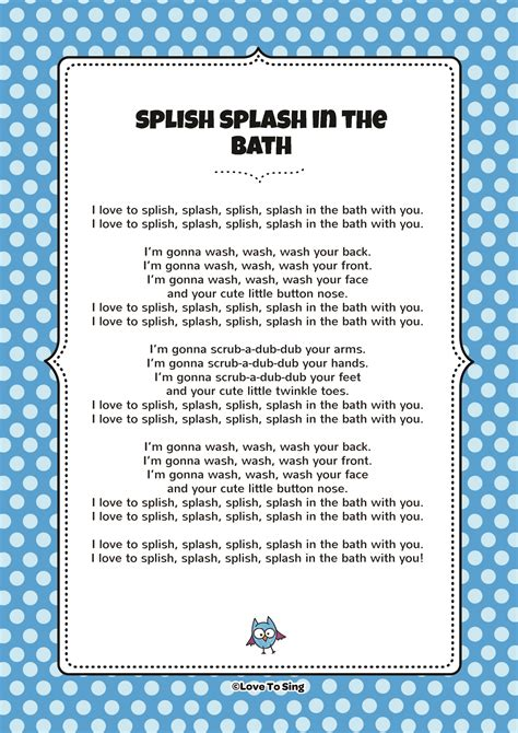singing in the bathtub lyrics in the bathtub lyrics 28 images splish splish splash
