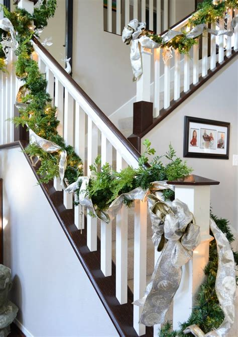 Banister Garland Ideas by 30 Beautiful Decorations That Turn Your Staircase Into A Tale