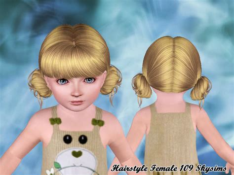 sims 3 toddler hair skysims hair toddler 109