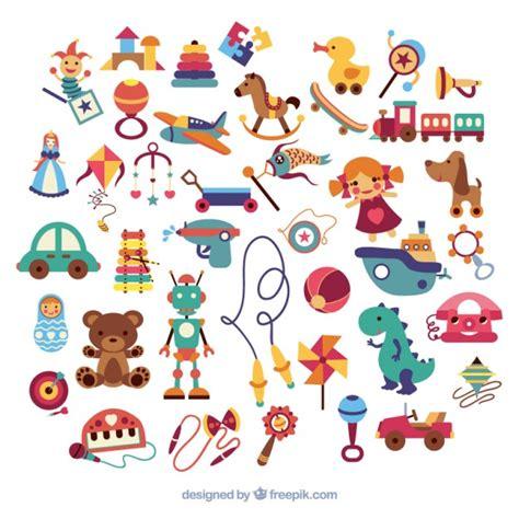 imagenes vectores infantiles variedad de juguetes infantiles descargar vectores gratis