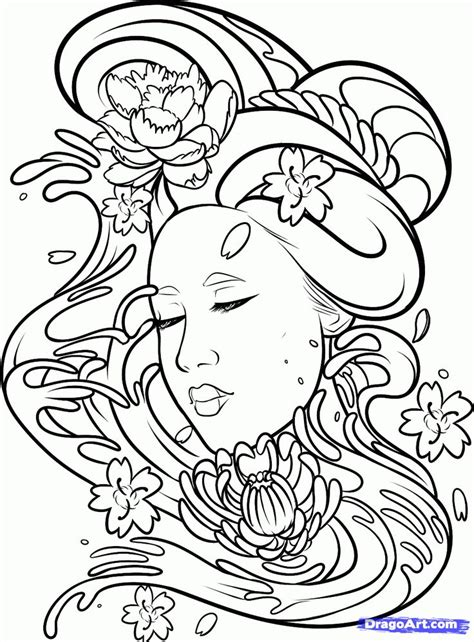 tattoo japanese outline 13 best time tattoo outlines images on pinterest time