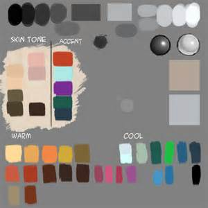 tone on tone color make custom color palette for digital painting drawing