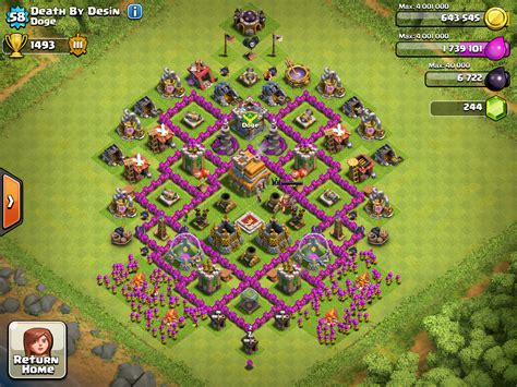 layout level 7 town hall clash of clans tips layouts