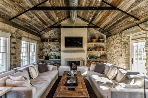 Small Cabin Plans Rustic Stone Cottage In Los Angeles