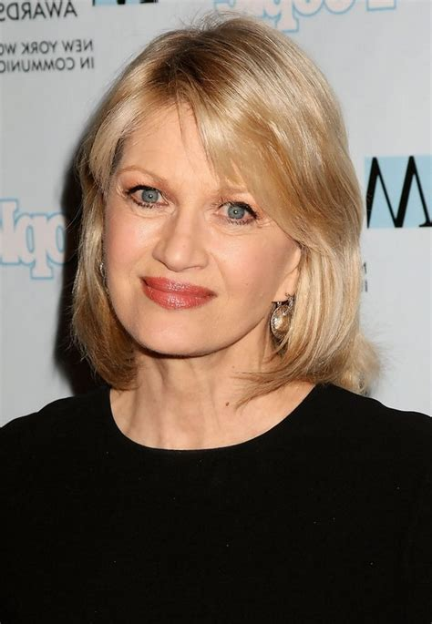 bangs shoulder length hair older women diane sawyer layered medium hairstyle with bangs for older