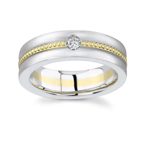 barkev s two tone mens wedding band mp1742g