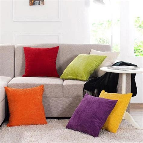 zippered sofa cushion covers corn kernels corduroy sofa decor pillow cases zippered