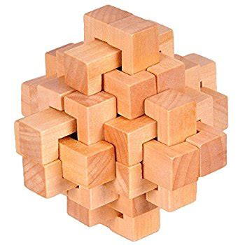 puzzle toys kingou wooden puzzle magic brain teasers intelligence sphere