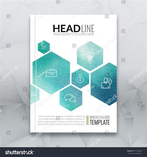 design poster a4 business brochure report design template vector stock