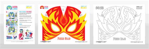 printable luchador masks make printable lucha libre masks easy costume ideas