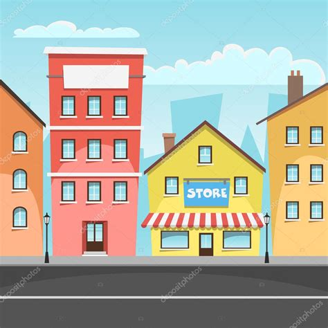 imagenes de paisajes urbanos animados paisaje urbano vector de stock 169 alexm83 46133575