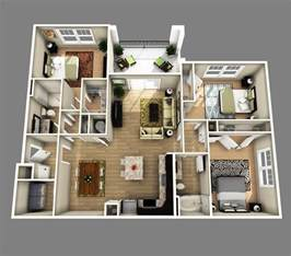 3 Bedroom Appartments by 3 Bedrooms Apartments Http Www Designbvild 4350 3