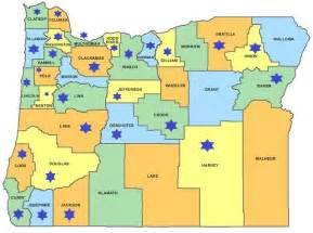 map of oregon by county portland county map map