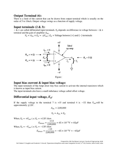 operational lifiers linear integrated circuits 6th edition pdf operational lifier active filters