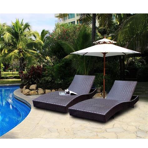 patio lounge 79 quot adjustable furniture pe wicker pool chaise outdoor
