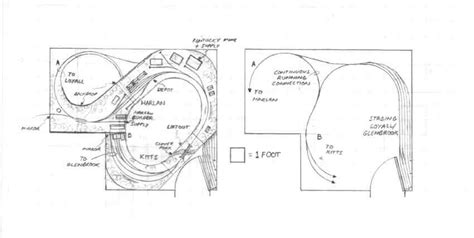 Bedroom Track Plans L N Harlan Ky Track Plan Ho Appalachian Railroad Modeling