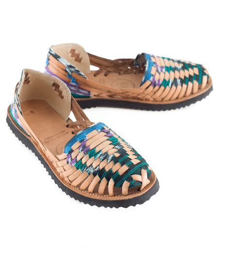 colored sandals ix style huarache sandals multi colored green lyst