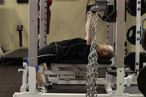 bench with chains bench press with chains exercise guide and video