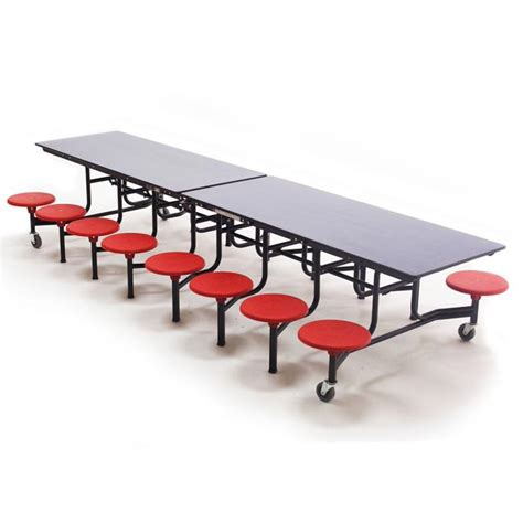 Cafeteria Tables With Stools by Amtab Mobile Stool Cafeteria Table 16 Stools 12 L