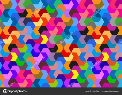 colorful shapes abstract retro background isometric colorful shapes